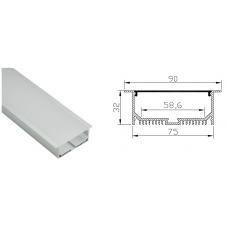 Профиль встраиваемый HL-BAPL055, 90*32*2000мм