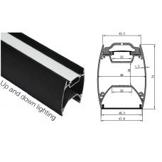 Профиль подвесной HL-A001-B, 48,7*74*2000мм (22мм внизу и 22мм вверху ленты)