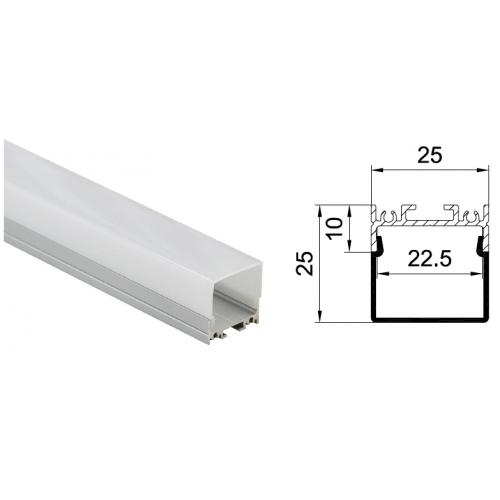 Профиль подвесной/накладной HL-A013-1, 25*25*2000мм