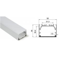 Подвесной/накладной профиль HL-A014, 50*35*2000мм