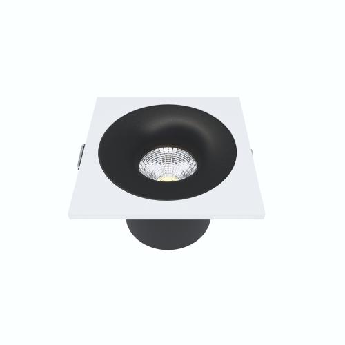 Встраиваемый светильник Module R, 9W, 3000K/4000K, Φ69*65 мм, черный с белой рамкой