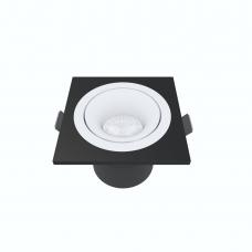 Встраиваемый светильник Module R, 9W, 3000K/4000K, Φ69*65 мм, белый с черной рамкой