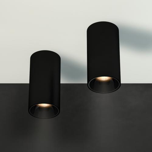 Накладной светильник BARREL, 12W, черный, 3000К, 76*150мм