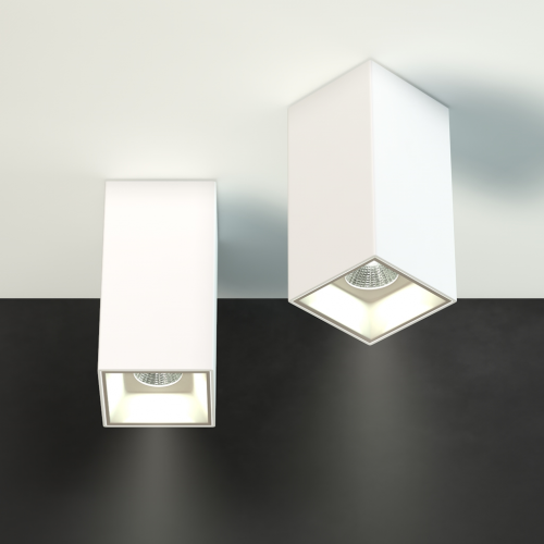 Накладной светильник CUBE, 12W, белый, 3000К, 76*76*150мм