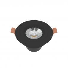 Встраиваемый светильник круглый черный поворотный 95мм