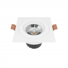 Встраиваемый светильник квадратный белый поворотный 95*95мм