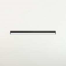 Магнитный светильник Line, 6W, 30см, черный, 3000К